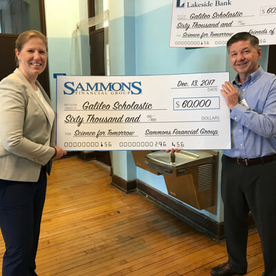 Sammons Financial Group Donates Funds Towards Galileo Scholastic Academy of Math & Science's New Science Laboratories