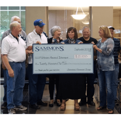 Veterans Honored Interment check presentation