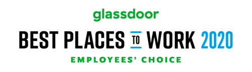Glassdoor 2020 Best Places to Work logo. Sammons Financial Group made it to number five on the list.