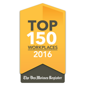 Top Places to Work Awar 2016